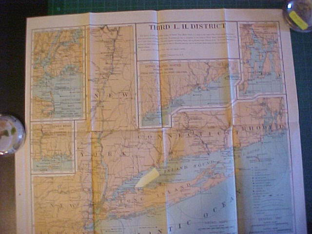 Light House District Maps U S Light House Service C 1900 1908 A Rare Opportunity To Obtain An Official U S Light House Service District Charts Of